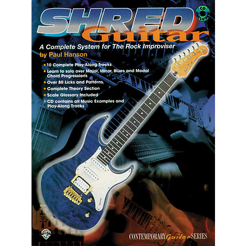 Alfred Shred Guitar: A Complete System for the Rock Guitar Improviser Book/CD-thumbnail