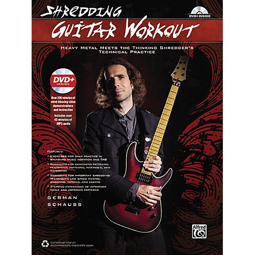 Alfred Shredding Guitar Workout: Heavy Metal Meets the Thinking Shredder's Technical Practice Book & DVD