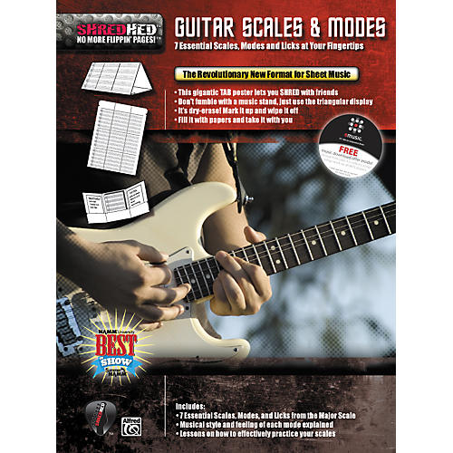 Alfred Shredhed Guitar Scales & Modes Poster-thumbnail