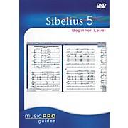 Hal Leonard Sibelius 5 Beginner Level - Music Pro Guides Series (DVD)