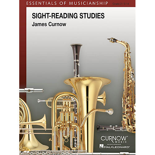 Curnow Music Sight-Reading Studies (Grade 2 to 4 - Score Only) Concert Band Level 2-4 Arranged by James Curnow