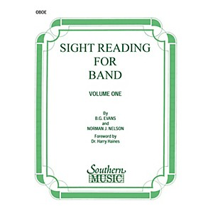 Southern Sight Reading for Band, Book 1 Oboe Southern Music Series by Bil...