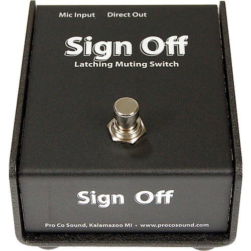Pro Co Sign Off Latching Mic Mute Switch-thumbnail