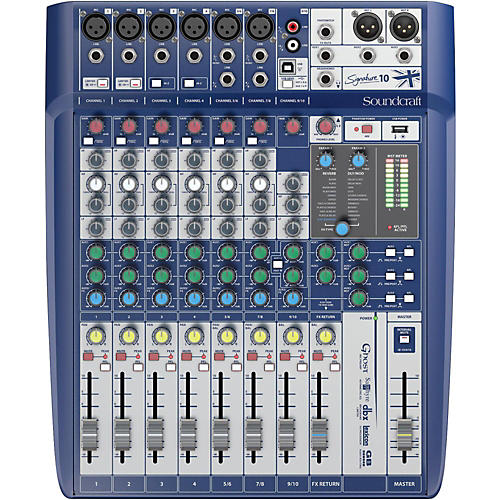 Soundcraft Signature 10 10-Input Analog Mixer-thumbnail