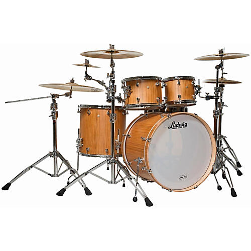 Ludwig Signet 105 Terabeat 4-Piece Shell Pack Natural Teak