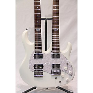 Pre-owned Ernie Ball Music Man Silhouette Double Neck Solid Body Electric Guitar by Ernie Ball Music Man