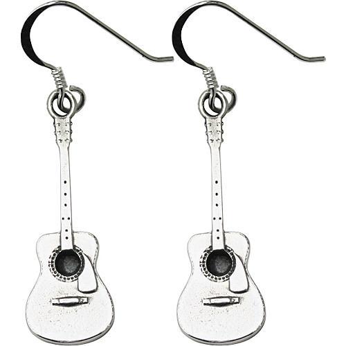 Jeffrey David Silver Acoustic Guitar Earrings
