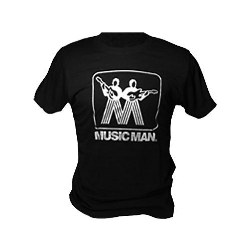 Ernie Ball Music Man Silver Man Logo T-Shirt Black Medium