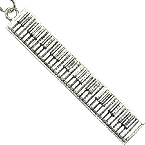 Jeffrey David Silver Piano Keychain