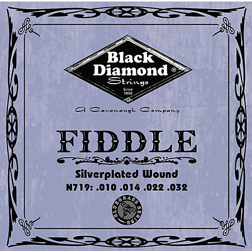 Black Diamond Silver-Plated Fiddle Strings-thumbnail