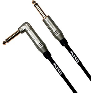 Mogami Silver Series Guitar Cable Straight to Right Angle by Mogami
