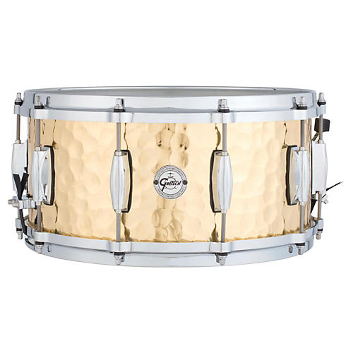 Gretsch Drums Silver Series Hammered Brass Snare Drum-thumbnail