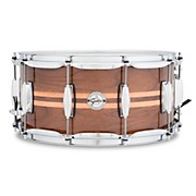 Gretsch Drums Silver Series Walnut Snare Drum with Maple Inlay