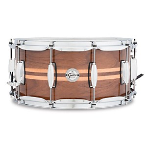 Gretsch Drums Silver Series Walnut Snare Drum with Maple Inlay by Gretsch Drums