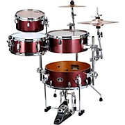 Silverstar Cocktail-Jam 4-Piece Kit with Bass Drum Pedal and EMAD Bass Drum Head