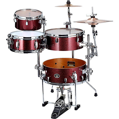 Tama Silverstar Cocktail-Jam 4-Piece Kit with Bass Drum Pedal and EMAD Bass Drum Head
