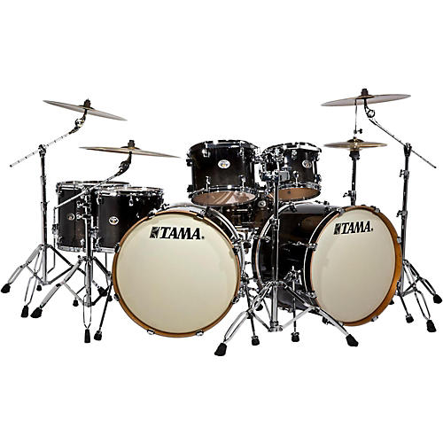Tama Silverstar Double Bass Drum 7-Piece Shell Pack with Double Tom Stand