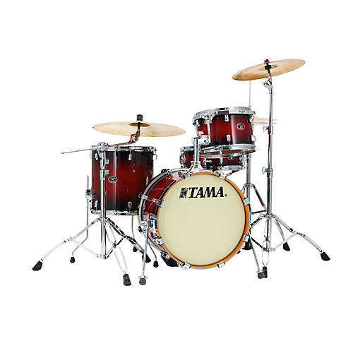 Tama Silverstar Lacquer 4-Piece Jazz Shell Pack Transparent Red Burst
