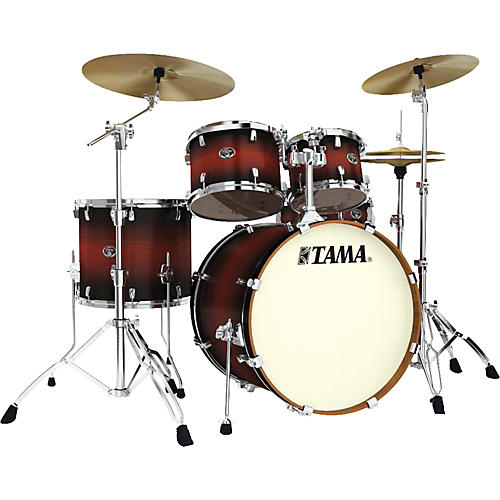 Tama Silverstar Lacquer 5-Piece Accel-Driver Shell Pack Satin Cherry Burst