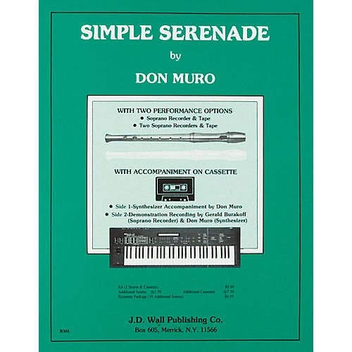 Magnamusic Simple Serenade Recorder Music 10 Scores-thumbnail