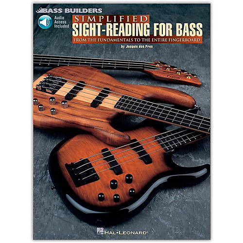 Hal Leonard Simplified Sight-Reading for Bass (Book/Online Audio)-thumbnail