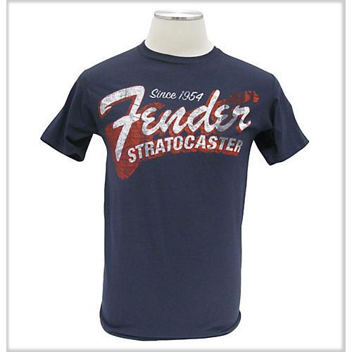 Fender Since 1954 Strat T-Shirt Blue Medium