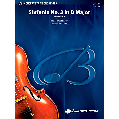 Alfred Sinfonia No. 2 in D Major Concert String Orchestra Grade 4.5 Set-thumbnail