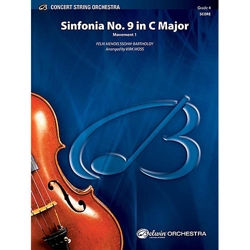 Alfred Sinfonia No. 9 in C Major String Orchestra Grade 4 Set-thumbnail