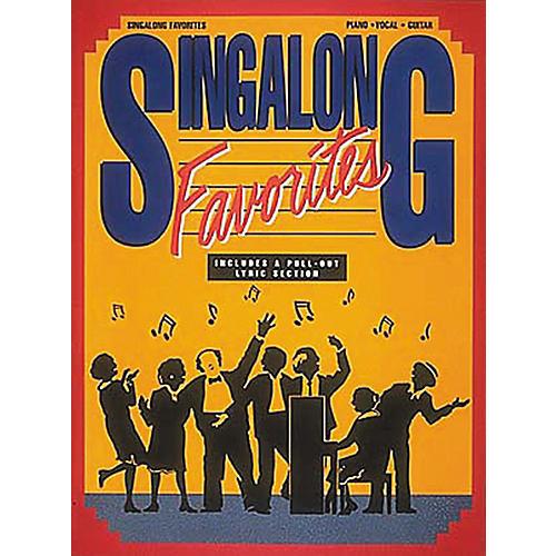 Hal Leonard Singalong Favorites Piano, Vocal, Guitar Songbook