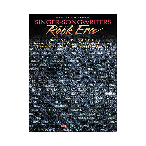 Hal Leonard Singer-Songwriters Of The Rock Era Piano, Vocal, Guitar Songbook