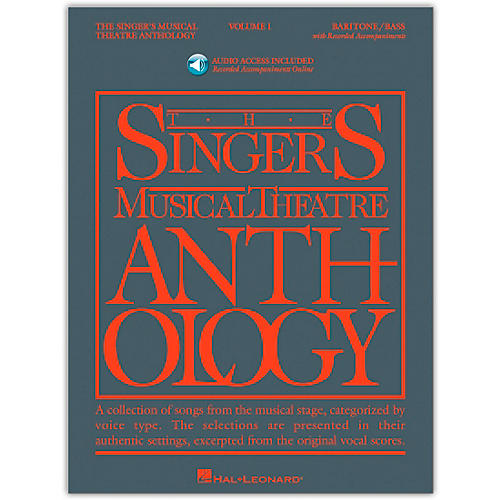 Hal Leonard Singer's Musical Theatre Anthology for Baritone / Bass Volume 1 Book/Online Media-thumbnail