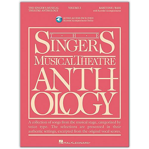 Hal Leonard Singer's Musical Theatre Anthology for Baritone / Bass Volume 3 Book/Online Audio