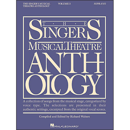 Hal Leonard Singer's Musical Theatre Anthology for Soprano Volume 3-thumbnail