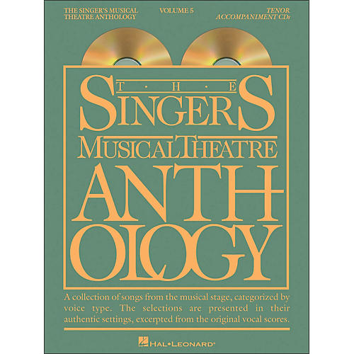 Hal Leonard Singer's Musical Theatre Anthology for Tenor Voice Vol 5 2 CD's Accompaniment