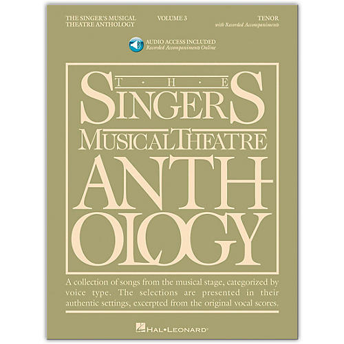 Hal Leonard Singer's Musical Theatre Anthology for Tenor Voice Volume 3 Book/2CD's