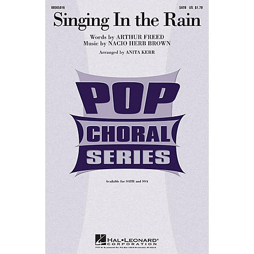 Hal Leonard Singing in the Rain SATB arranged by Anita Kerr