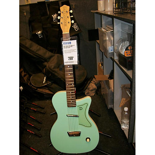 Danelectro Single Cut Surf Green Solid Body Electric Guitar-thumbnail