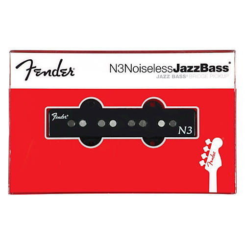 Fender Single N3 Noiseless Jazz Bridge Pickup Black Covers