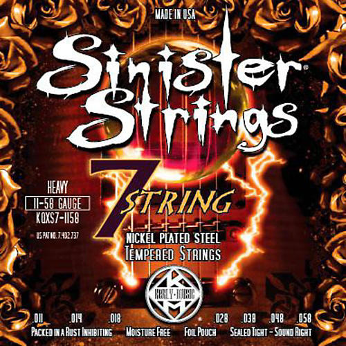 Kerly Music Sinister Strings Nickel Wound Electric Guitar Strings - 7-String Heavy-thumbnail