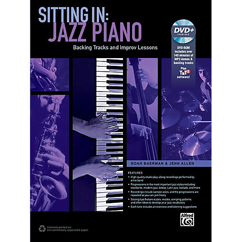 Alfred Sitting In: Jazz Piano Book & DVD-ROM-thumbnail