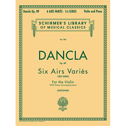 G. Schirmer Six Airs Varies Op 89 Violin Piano By Dancla