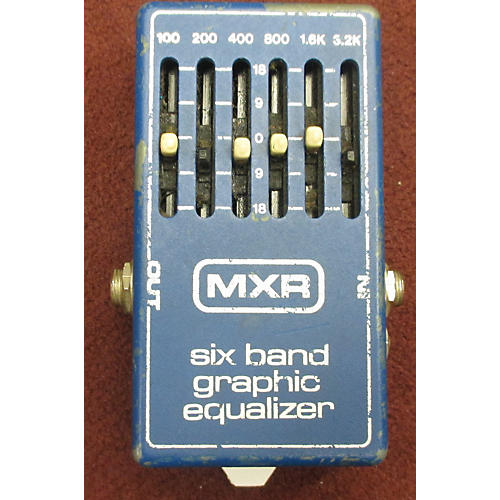 MXR Six Band Graphic Equalizer Pedal