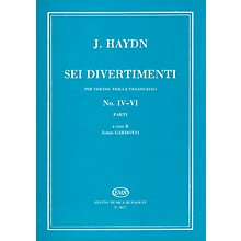 Editio Musica Budapest Six Divertimenti for Violin, Viola & Cello, Nos. 4-6 EMB Series Composed by Josef Haydn