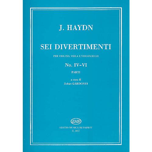 Editio Musica Budapest Six Divertimenti for Violin, Viola & Cello, Nos. 4-6 EMB Series Composed by Josef Haydn