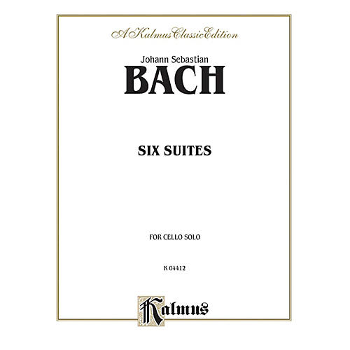 Alfred Six Suites for Cello Solo By Johann Sebastian Bach Book-thumbnail