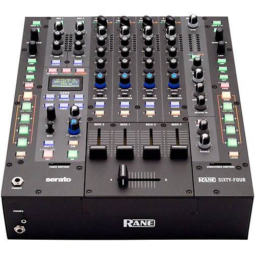 Rane Sixty-Four 4-Channel DJ Mixer with Serato DJ Software