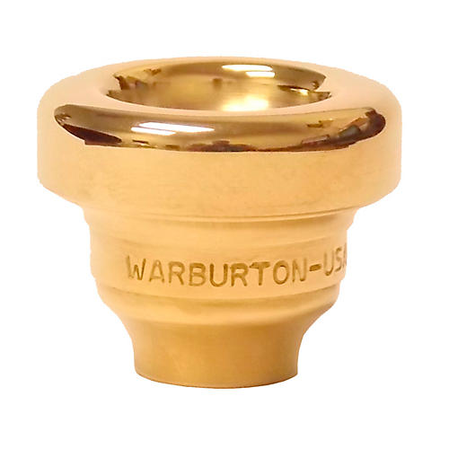 Warburton Size 2 Series Trumpet and Cornet Mouthpiece Top in Gold 2MD Gold