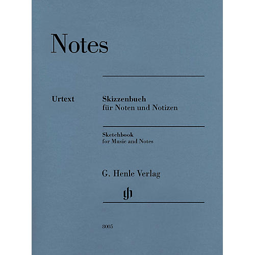 G. Henle Verlag Sketchbook (for Music and Notes) Henle Music Folios Series Softcover