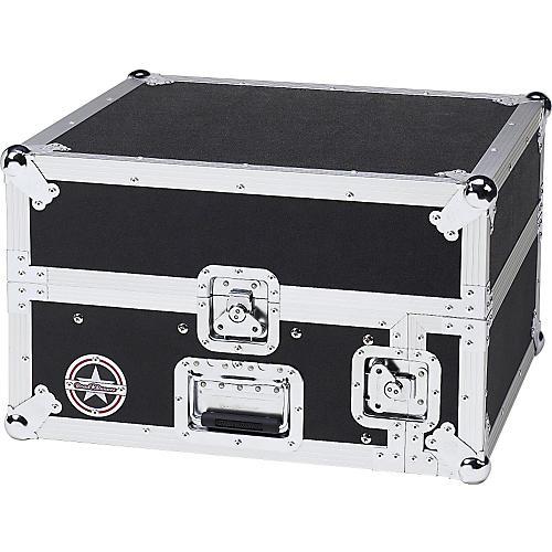 Road Runner Slant Mixer Rack Case/Vertical Rack Black 2 Sp