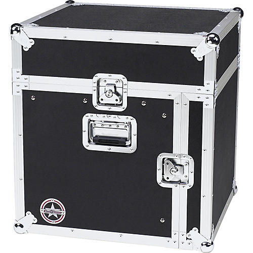 Road Runner Slant Mixer Rack Case/Vertical Rack Black 8 Sp